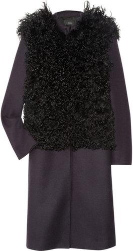 Joseph Dallas shearling and wool-blend felt coat