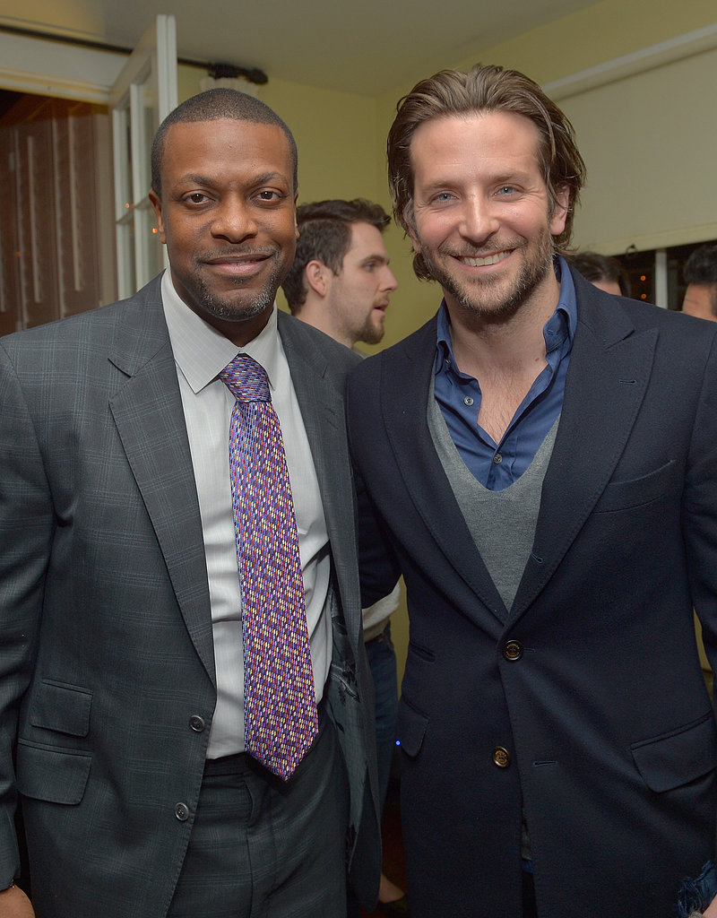 Chris Tucker hung out with Bradley Cooper at the Silver Linings Playbook party.