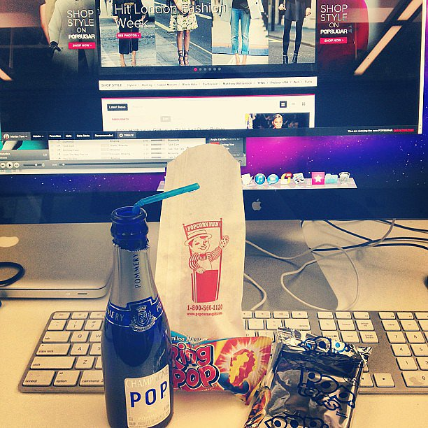 Other fitting ways to celebrate POPSUGAR LIVE!? POP Champagne, popcorn, and Pop-Tarts.