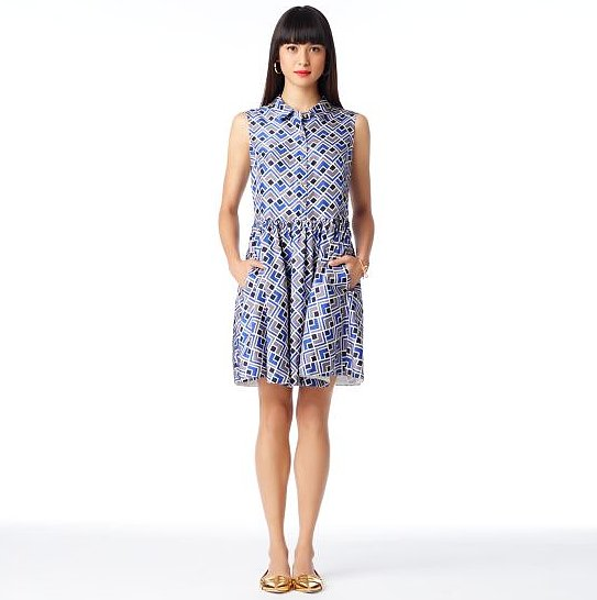 Kate Spade's deco Lora dress ($238, originally $398) features a refreshing print, perfect for work or a day at the park.