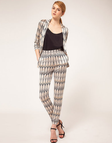 ASOS Track Pants In Chevron