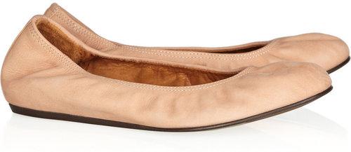 Lanvin Nubuck leather ballet flats
