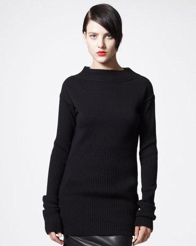 Rick Owens Long Ribbed Sweater
