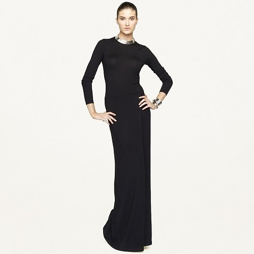 Ralph Lauren Black Label Cashmere-Blend Maxi Dress