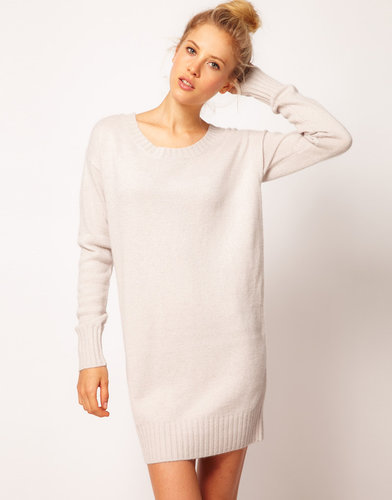 ASOS Woven Back Sweater Dress
