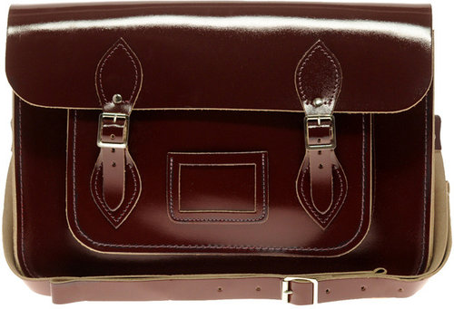 "Cambridge Satchel Company Exclusive To ASOS 14"" Oxblood Patent Satchel"