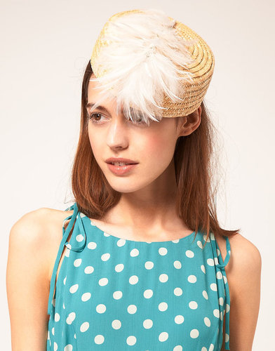 Catarzi Exclusive To ASOS Feather Pillbox Hat