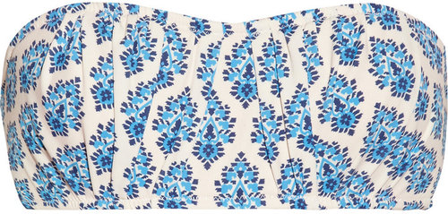 J.Crew Emblem printed bandeau bikini top