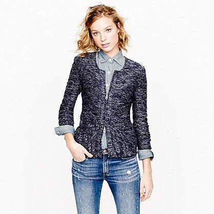 Bouclé peplum jacket