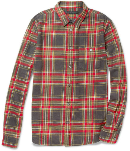 Marc by Marc Jacobs Plaid Cotton-Flannel Shirt
