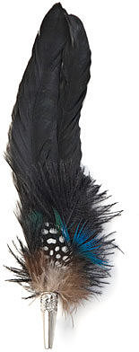 Alexander McQueen Painted feather brooch