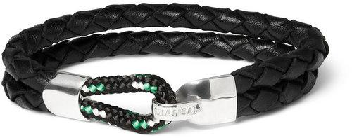Miansai Waypoint Woven-Leather Bracelet