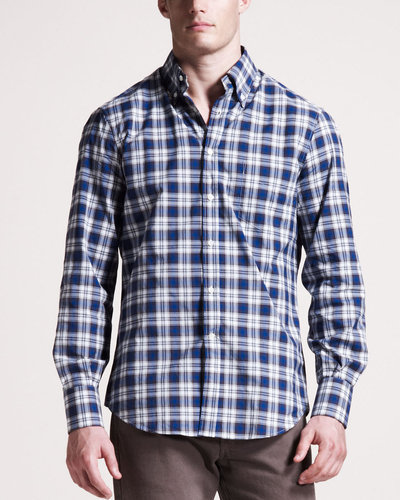 Brunello Cucinelli Check Button-Down Shirt