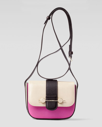 Jason Wu Daphne Mini Colorblock Crossbody Bag, Beige/Magenta