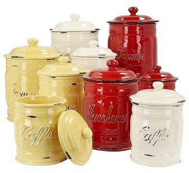Italian Ceramic Flour Canisters