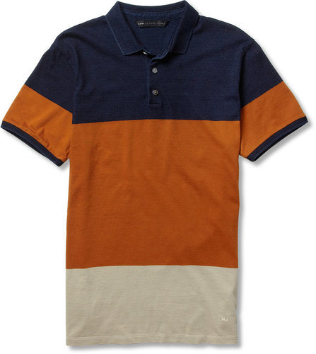 Marc by Marc Jacobs Striped Cotton-Jersey Polo Shirt