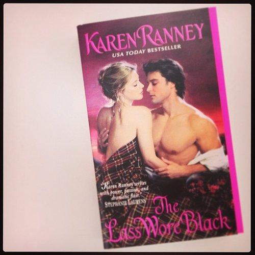 We shared on our POPSUGAR Love & Sex Instagram Karen Ranney's steamy romance novel The Lass Wore Black.