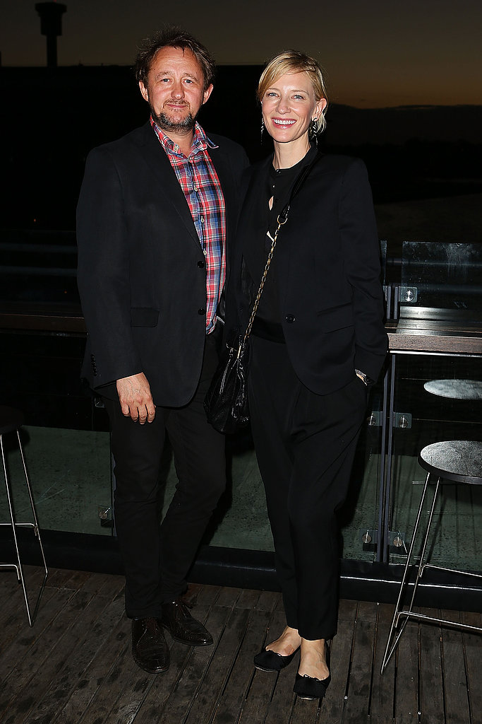 Andrew Upton and his wife Cate Blanchett attended the opening night of Mrs Warren's Profession at the Sydney Theatre Company on February 19.