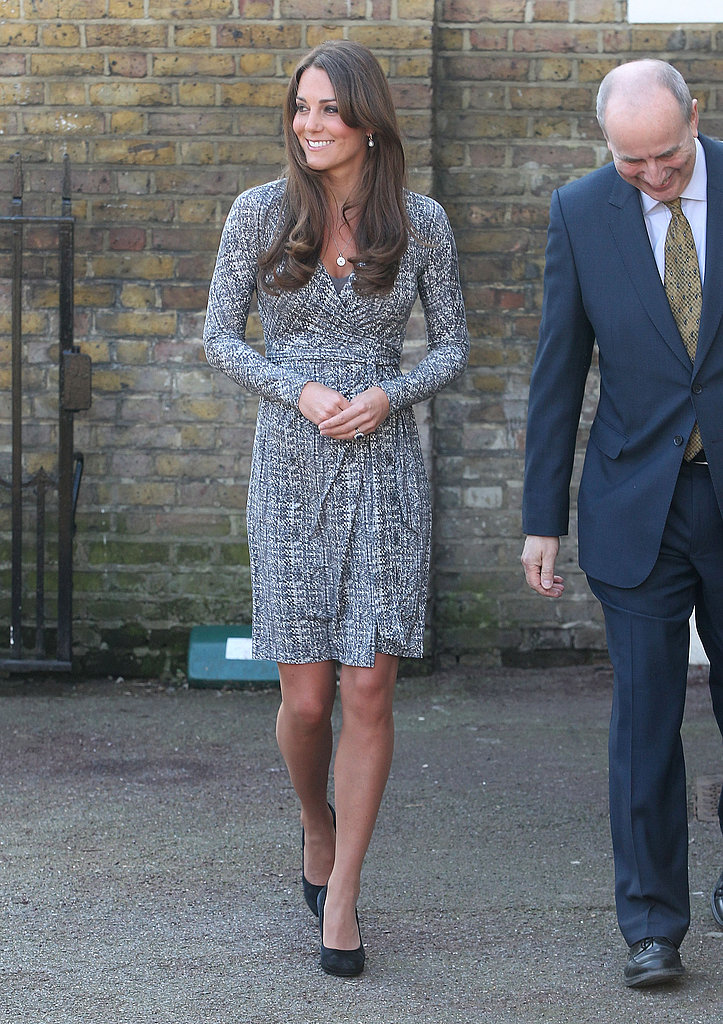 The baby bump we've all been waiting for made a too-cute appearance when Kate Middleton took on royal duties at Hope House in London on February 19.