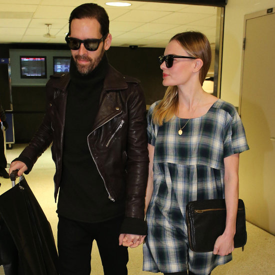 Kate Bosworth and Michael Polish Hold Hands at LAX