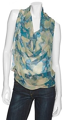 Maggie Ward Knit Back Floral Top