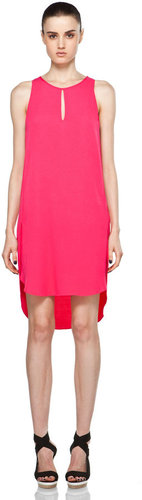 3.1 phillip lim Sleeveless Dress w/ Overlapped Side Seams in Hot Pink