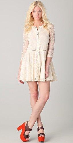 Roseanna Zebra Lace Flounce Dress