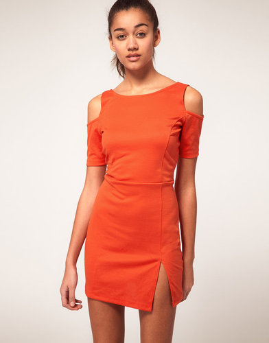 Vero Moda Cut Out Shoulder Dress With Side Split