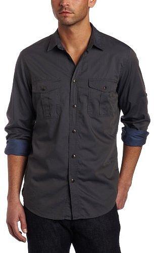 Ben Sherman Men's Plectrum Long Sleeve Double Faced Twill Woven Shirt