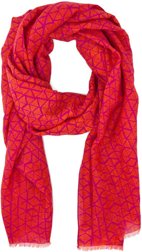 Kelly Wearstler Triangle Lattice Scarf in Berry/Jasmine