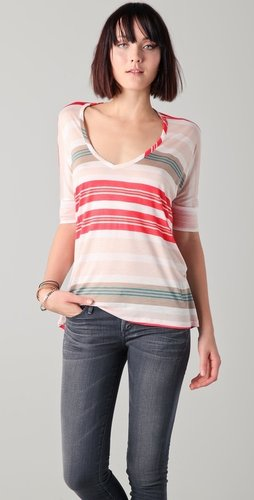 Splendid Beach Towel Stripe Tee