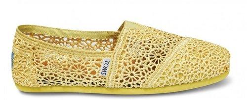 Yellow crochet women's classics