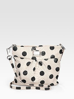 Dotty Snake-Embossed Shoulder Bag