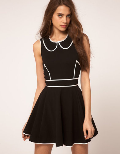 ASOS Skater Dress With Contrast Piping