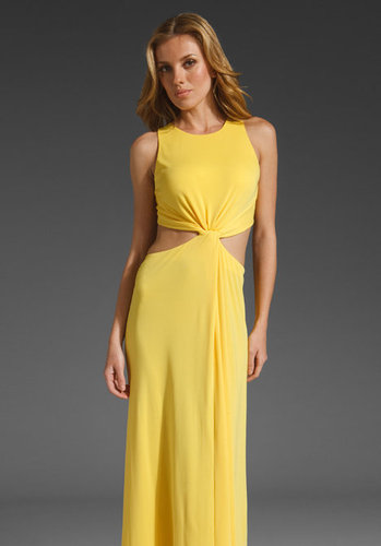 BCBGMAXAZRIA Cut Out Maxi Dress