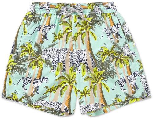 Vilebrequin Moorea Mid-Length Jungle-Print Swim Shorts