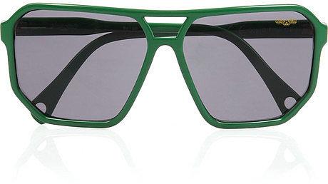 Glassing Scientist hexagon D-frame  acetate sunglasses