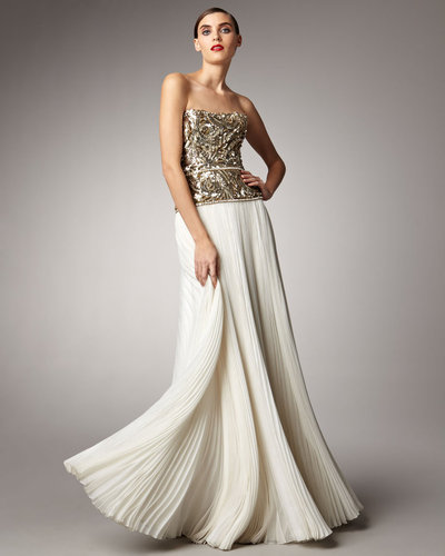 Marchesa Couture Beaded Bodice Gown