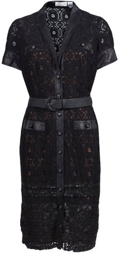 Byron Lars LACE SHIRT DRESS