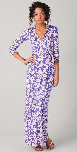Diane Von Furstenberg Abigail Wrap Maxi Dress