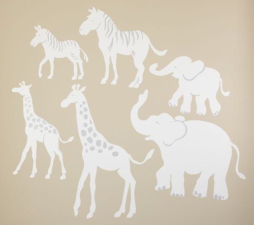 White Safari Animal Decals