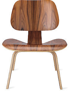 Eames® Molded Plywood Lounge Chair, LCW
