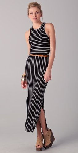 Dolce Vita Jana Striped Belted Maxi Dress