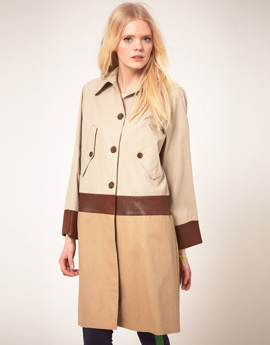 Baum Und Pferdgarten Coat With Leather Trim