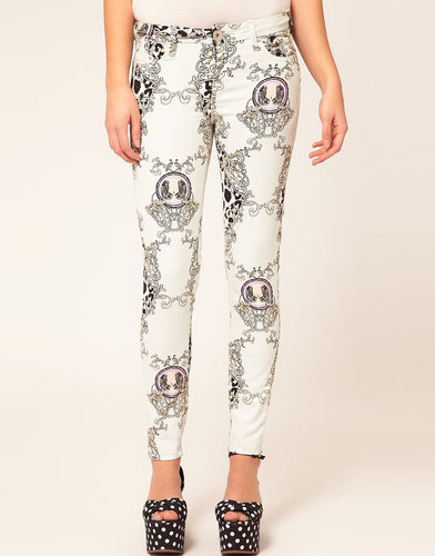 River Island Animal Scarf Print Jean
