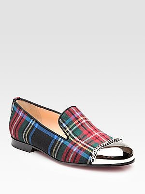 Rollergirl Tartan Flannel Metal-Toe Smoking Slippers