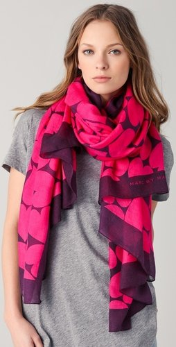 Marc By Marc Jacobs Big Hearted Scarf