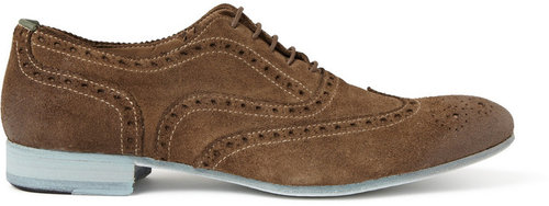 Paul Smith Shoes & Accessories Miller Contrast-Sole Suede Brogues