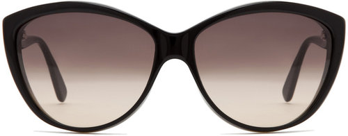 Alexander McQueen 4147 Sunglasses in Black Horn Black