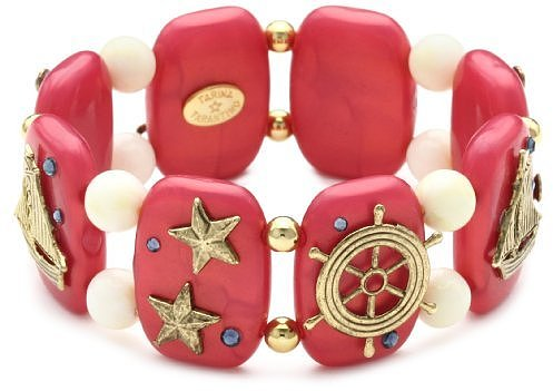"TARINA TARANTINO ""Hey Sailor"" Stretch Nautical Cuff Bracelet in Regatta"